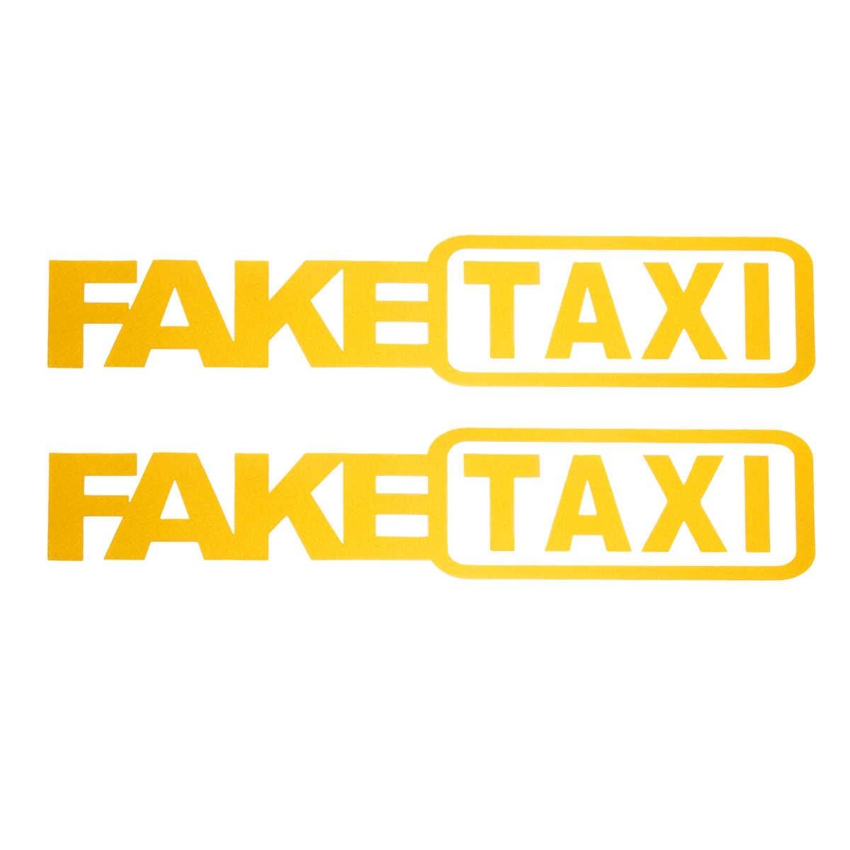 Универсальные 2 шт Поддельные такси наклейки автомобиля наклейка эмблема самоклеющиеся клейкие виниловые наклейки для автомобиля грузовика