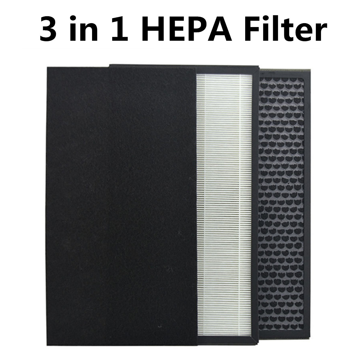 Activated Carbon filter 3 in 1 Air Purifier Compound Filter with HEPA filter Primary filter cottonActivated Carbon filter 3 in 1 Air Purifier Compound Filter with HEPA filter Primary filter cotton