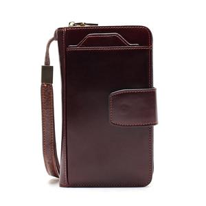 Image 3 - Business Clutch Bag Detachable Wristband Men Wallet Slidable Phone Holder Outside The Multi Card Design Multi Function Bag