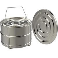 Pressure Cooker Steamer Double Stackable Steamer Cooker Pot Accessories Food Steamer Basket Stainless Steel Steam Grid