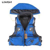 Lixada Men Women Fishing Life Vest Outdoor Water Sports Safety Life Jacket Boat Drifting Survival Swimwear Colete Salva Vidas