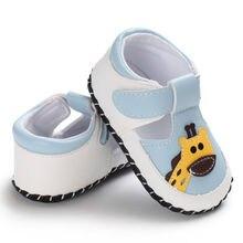 b7088810e880e Nouveau-né bébé fille garçon chaussures été enfant premiers marcheurs  infantile semelle souple PU berceau