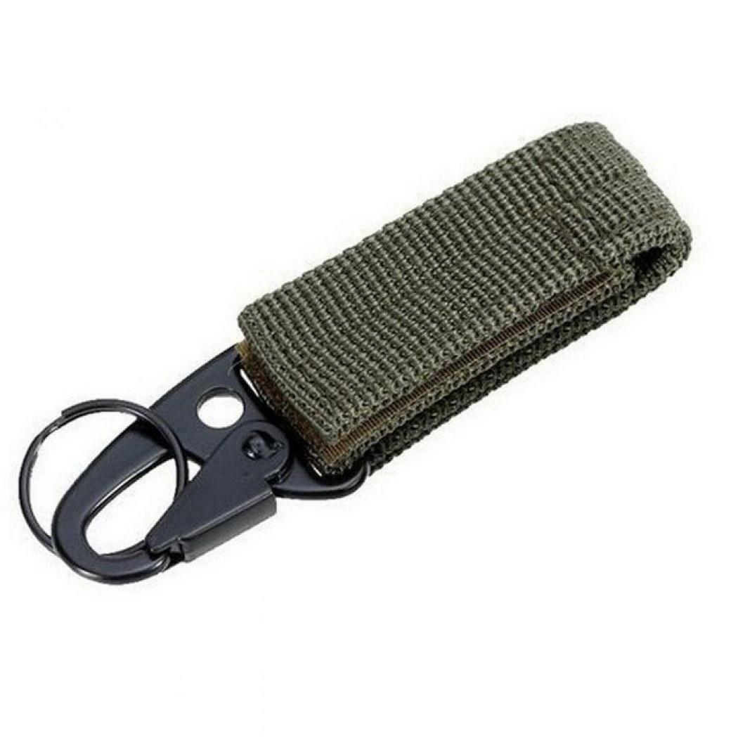 Portable Outdoor Nylon Tactical Belt Backpack 2.5cm Keychain Hook Light, strong and durable. Clasp Carabiner