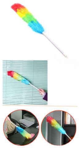 من المألوف ماجيك الملونة مكافحة ساكنة منفضة ريش تلسكوبي مقبض تنظيف المنتجات أدوات المنزلية