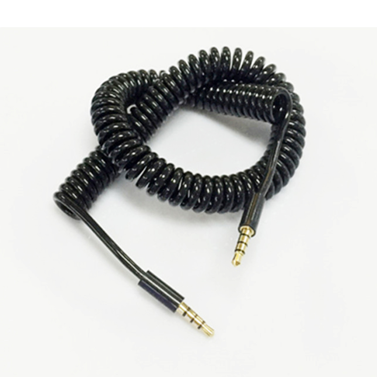 Digital Kabel Initiative Telefon Kabel Audio Kabel 3,5mm Coiled Stereo Aux Auto Audio Kabel Linie Stecker Auf Stecker Gold Überzogene Frühling Teleskop Für Android S
