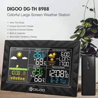 Sunrise Sunset Display Weather Station Thermometer Hygrometer Outdoor Indoor Temperature Humidity Sensor Colorful Large Screen