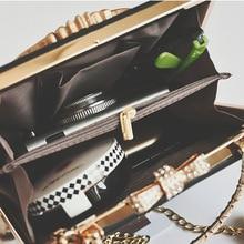 Metal Beading Women Tote Bag Baroque Angel Mini Handbags Luxury PU Leather Shoulder Bags