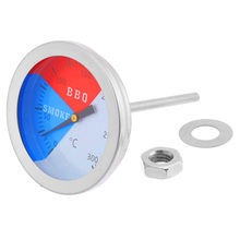 цена на 300 Degree Stainless Steel Barbecue BBQ Smoker Grill Thermometer Camping Grill Temperature Gauge Tool BBQ Accessories