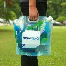 1 пара PE портативный 10L складной Открытый мешок питьевой воды большой емкости Спорт кемпинг контейнер для воды Перевозчик