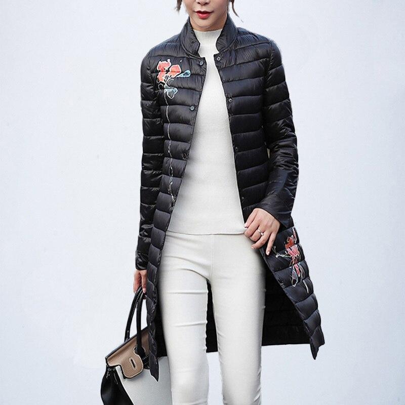 Black Veste Femelle Down green Manteau Coupe Chaud Mode Long Outwear Hiver Parka Poche vent claret Automne Femmes J82 Imprimer Coton ONnPX80kw