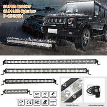 цена на Hiyork Work Light Straight Slim LED Light Car Bar Single 18W 36W 54W 72W For SUV 4X4 ATV Off Road LED Spot Combo Beam Spotlight