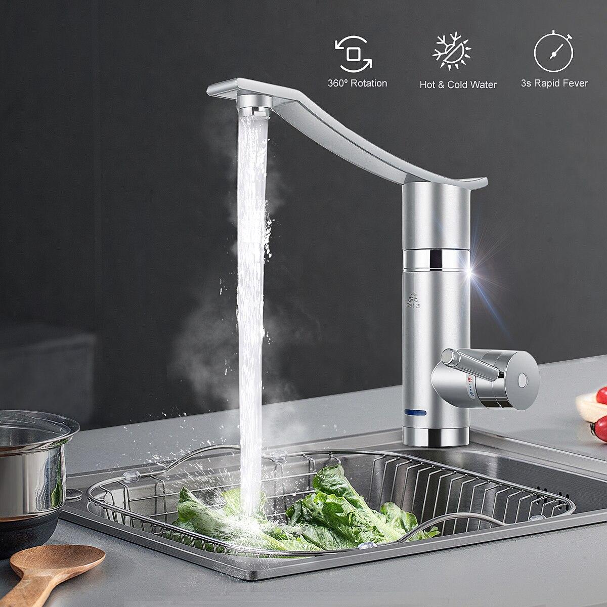 3000 Вт Мгновенный Электрический кран горячей воды электрические водонагреватели под подачей/боковой воды без защиты от утечки