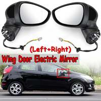 Car Wing Door Electric Mirror For Ford For Fiesta Mk7 2008 2012 Rear View Door Mirror Left/ Right Rearview Side Painted Black