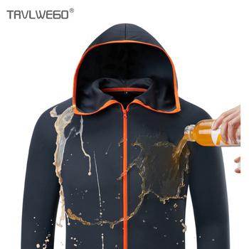 TRVLWEGO odzież wędkarska z kapturem lodowy jedwab mężczyzna kurtka szybkoschnący płaszcz koszula wędkarska dla mężczyzn oddychająca wodoodporna UV dowód tanie i dobre opinie Gray Blue White M L XL 2XL 3XL 4XL AD012