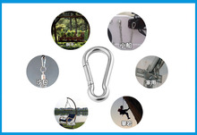 2X 5mm 6mm 8mm Multifunctional 304 Stainless Steel Spring Snap Carabiner Quick Link Ring Hook snap shackle Chain Fastener Hook