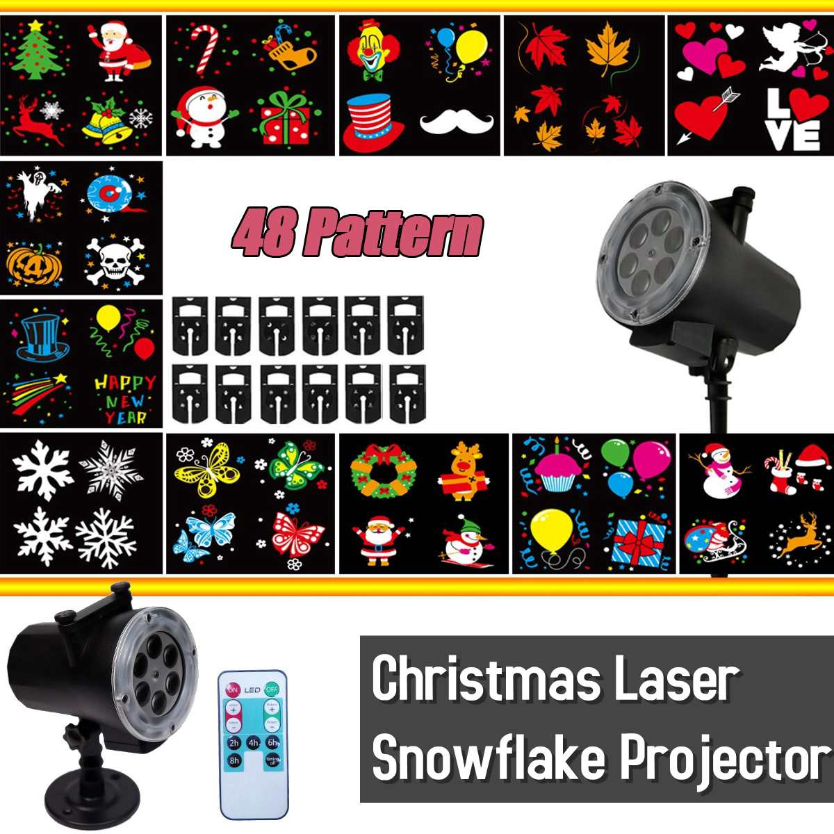 Stage Lighting Effect Lights & Lighting The Cheapest Price 16 Patterns Christmas Laser Snowflake Projector Outdoor Led Waterproof Disco Lights Home Garden Star Light Indoor Decoration
