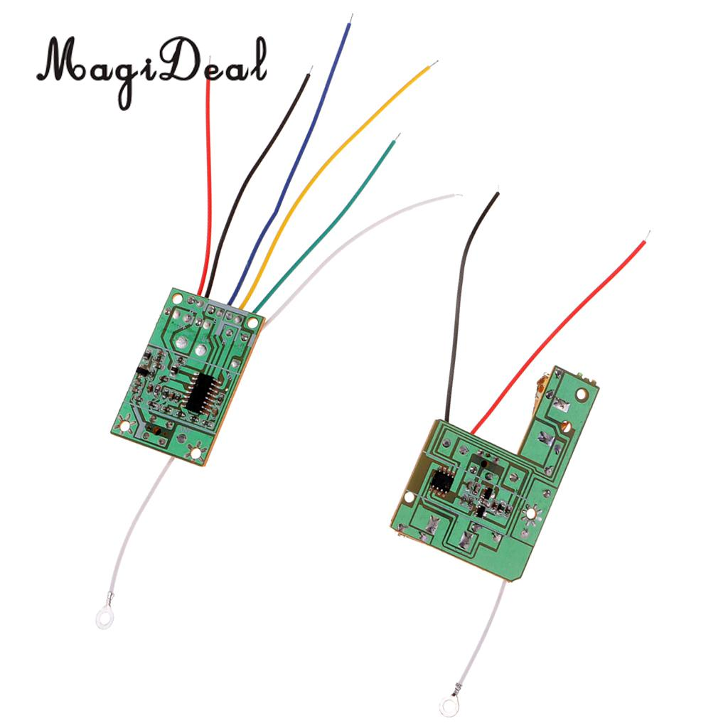 27M 4CH Remote Control Module Receiver & Transmitter Wireless Board with Antenna for Mini DIY RC Toy Car Accessories image