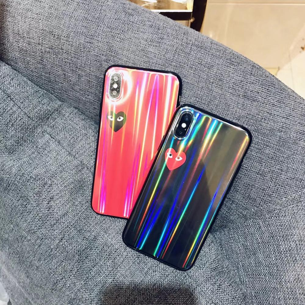 Luxury Aurora Phone Case For iPhone X 7 8 Lovely Glossy Silicone Edge Cover Plus XS MAX XR