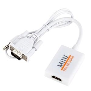Image 3 - VGA Männlichen Zu HDM Ausgang 1080P HD + Audio TV AV HDTV Video Kabel Konverter Adapter