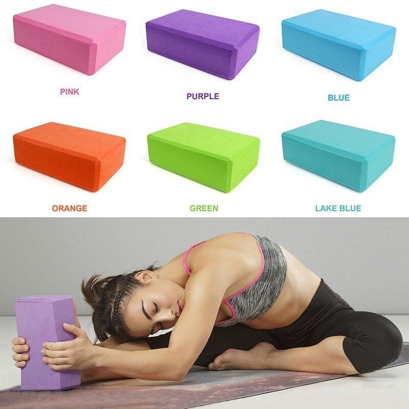 Yoga Bricks Colorful Foam Block Stretching Aid Gym Pilates Yoga Block Exercise Fitness Sport Body Shaping Equipment