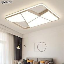 Modern LED Chandelier Lighting Living Room Kitchen Fixture White Black Body Ceiling Chandeliers Lustre Bedroom Indoor Decoration