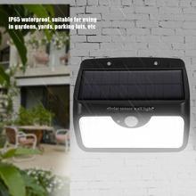 Solar Lights For Garden Decoration 64pcs LED Solar Powered Waterproof Wall Light Human Body Motion Sensor Garden Gate Lamp