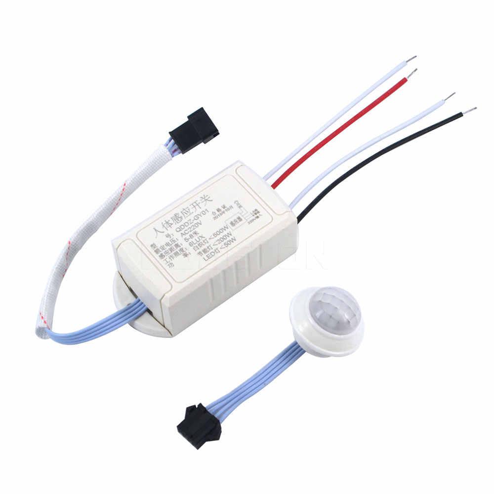 Новый ИК инфракрасный датчик тела Интеллектуальный переключатель светильник 220 В для лампы датчик движения Регулируемый переключатель движения PIR