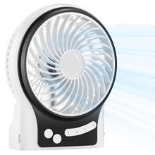 Portable USB Li-ion Battery Rechargeable Fan Air Cooler Mini Operated Desk Fan 3 Modes Speed Adjustable Office USB Cooling Fan