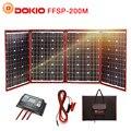 Dokio 200 Вт (50 Вт * 4) солнечная панель 12 В/18 в Гибкая Foldble Солнечная батарея с usb-разъемом портативный комплект для солнечной батареи для лодки/...