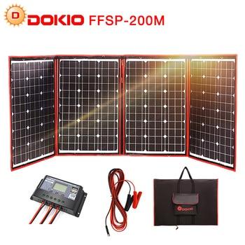 Dokio 200 W (50 W * 4) panneau solaire 12 V/18 V Flexible pliable panneau solaire usb Portable Kit de cellules solaires pour bateaux/Camping extérieur