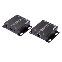 HDMI Extender TX+RX 1080P to 60M Over Cat6/7 UTP Ethernet RJ45 Cable IR Control