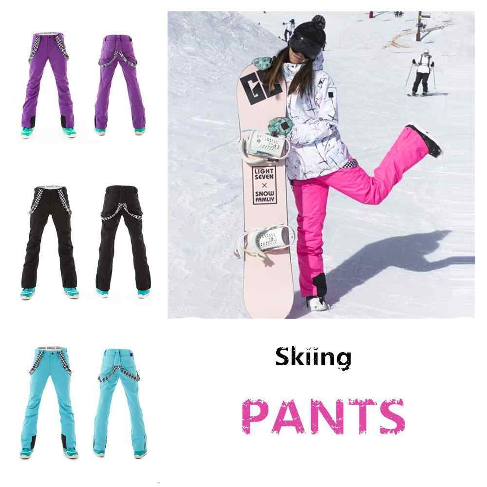 Mounchain Woman Warm winter ski pants Waterproof snowproof Skiing Pants breathable warm ski clothes Outdoor Winter Wear XS-XL