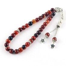 100% original Natürliche achat stein Tesbih Islamischen gebetskette Tasbih Muslim für gebet perlen gebet 8mm perlen Misbaha Tasbeeh