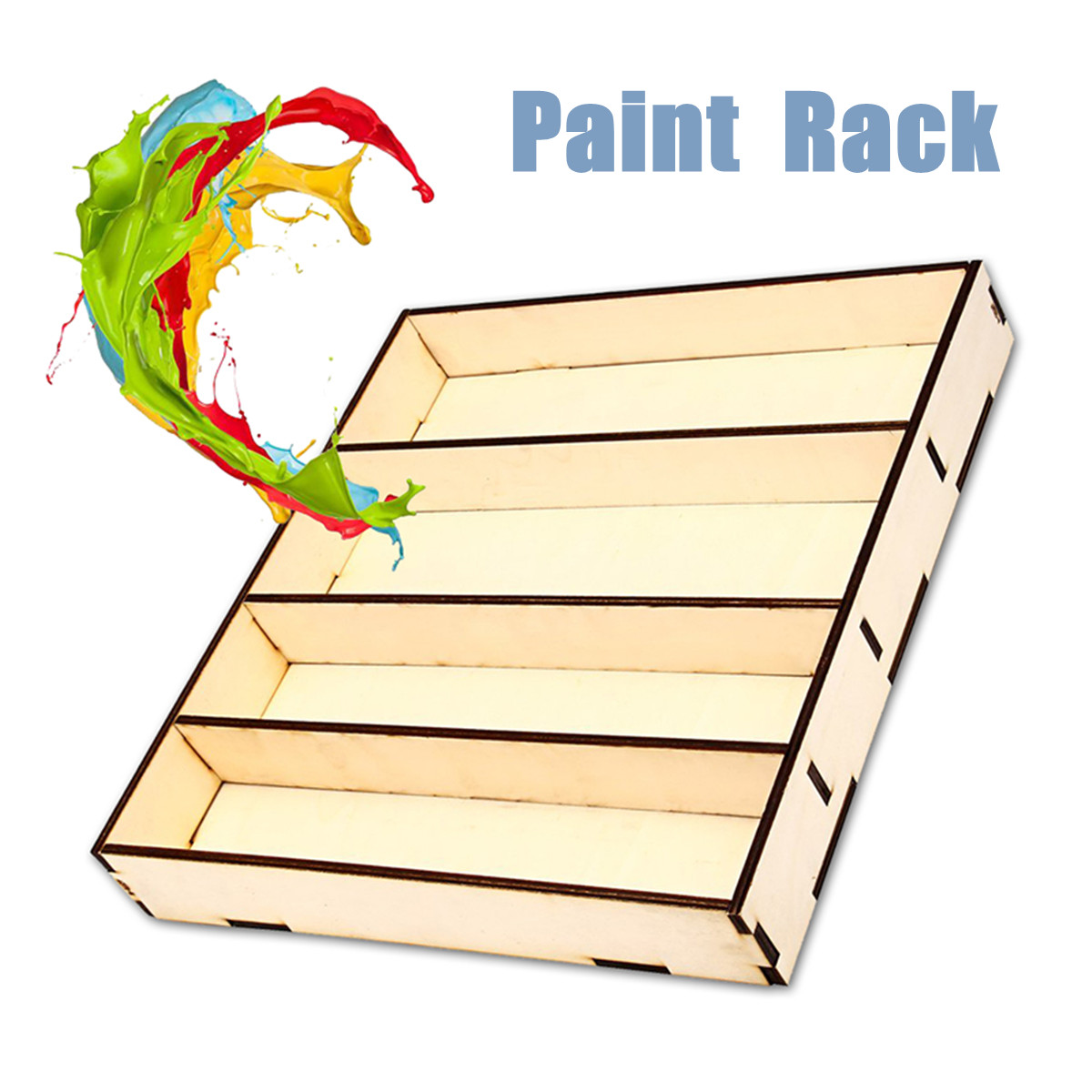 Wooden Paint Rack Acrylics Storage Stand Holder Box Drawing Tools Paint Modular Organizer Tool Storage Supplies 311x290x45mm