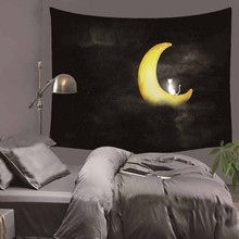 Hanging Wall Tapestry Moon Star River Scenery Home Decor Yoga Beach Towel Printed Rectangle 130x150cm/150x170cm Tapestry Tapiz цена 2017