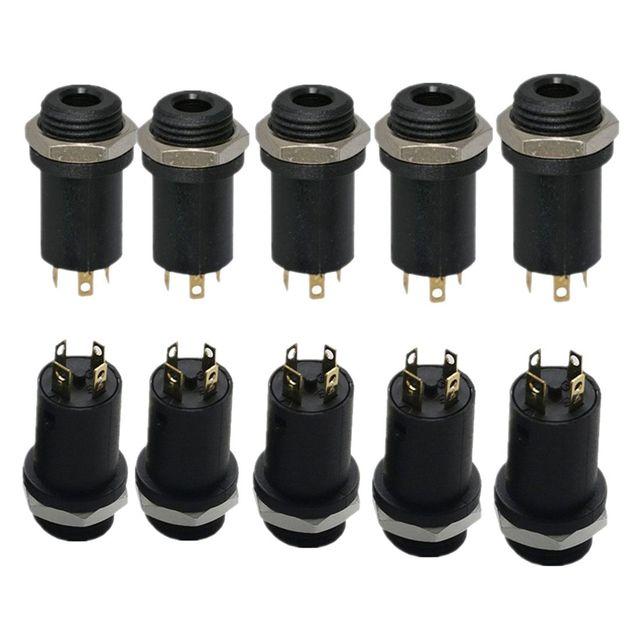 US $1.74 |10PCS 3.5MM Mini Stereo Panel Mount Headphone Jack Solder, on