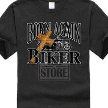 Christian T-Shirt Born Again Biker