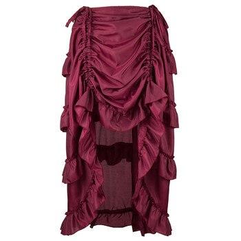 Wipalo Women Pirate Skirt Vintage Skirt Irregular Skirt Dance Performance Skirt Skirt Female Dance Show Skirt Big Size S-6XL Юбка