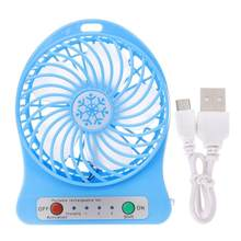 Portable Handheld Rechargeable Mini USB Fan Air LED Light Mini Air Cooler Mini Desk TableThird Wind USB Fans(China)