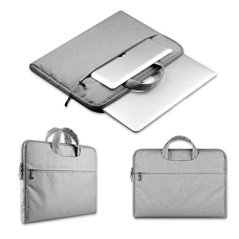 Briefcase Handbag Laptop Sleeve case For MacBook Air Pro Retina 12 13 14 15.6 inch Notebook Soft Plush portable protector bag