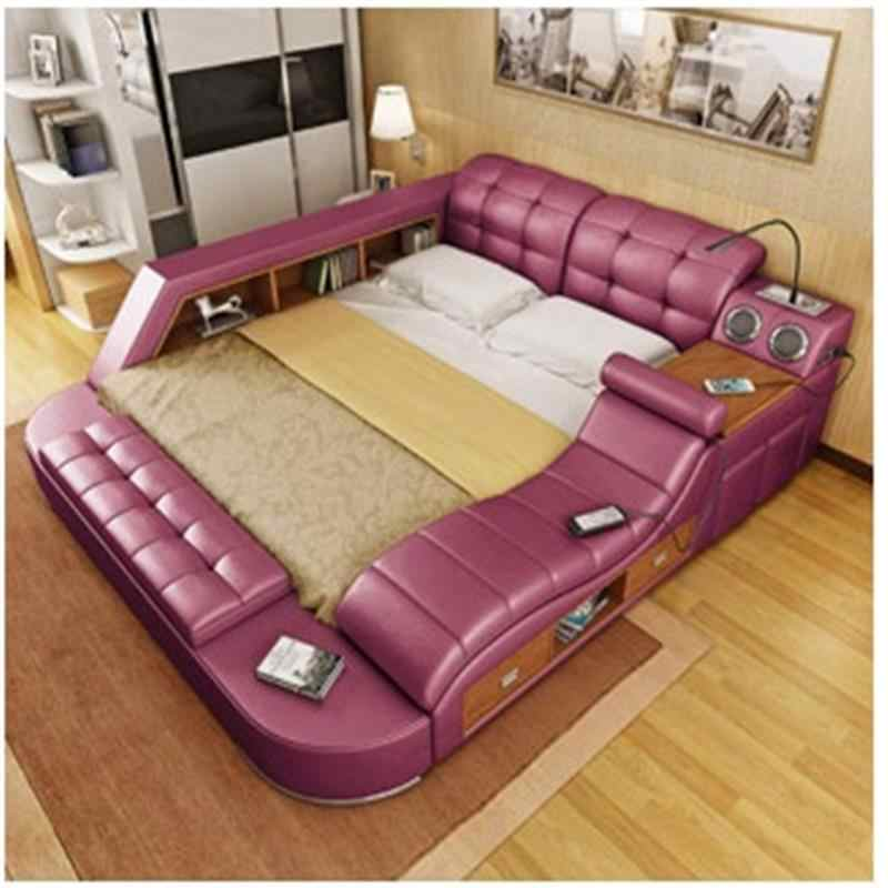 Maison Room Frame Single Kids Tempat Tidur Tingkat Literas Leather Moderna Mueble De Dormitorio bedroom Furniture Cama Bed