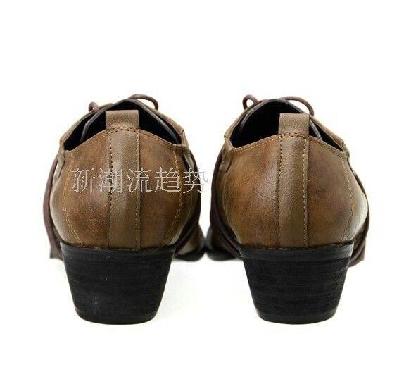 Italienische 2 Spitz Oxford Männer Schuhe Herren Haut Formale Bewertet Kleid High Leder Heel Lace 1 Krokodil Für Up 3 RgCqCwt