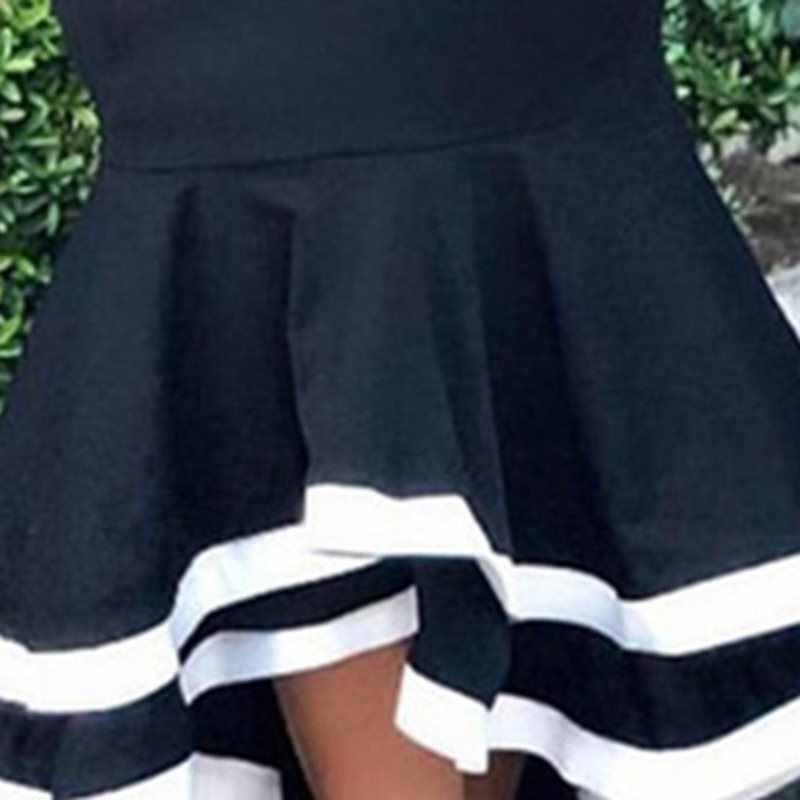 الصيف أنيقة خمر حزب زائد حجم مثير المرأة ماكسي تنورة حورية البحر الكشكشة الحلو الرجعية عالية الخصر الإناث أسود الأزياء التنانير