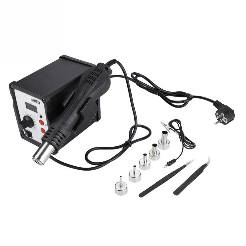 868D 700W SMD Rework Soldering Station Digital Display Anti static Hot Air Gun Heat Gun with