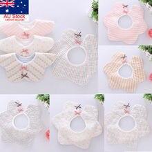 Pudcoco бренд 2 шт в форме цветка детские мягкие шарфы для кормления слюнявчик полотенце хлопок
