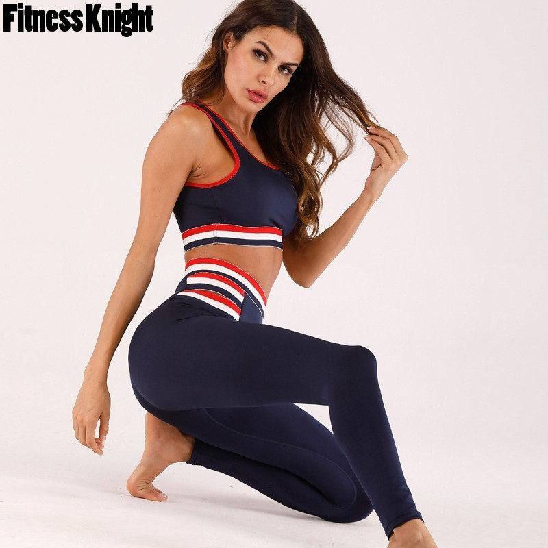 Strong Yoga Set Health Girls Breathable Yoga Swimsuit 2 Piece Exercise Trainning Swimsuit Fast Dry Sports activities Bra+Sport Pants Sport Clothes