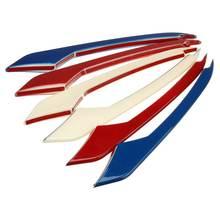 3 colori Car Styling Esterno Anteriore Della Luce di Nebbia Della Lampada Sopracciglio Palpebra Coperture Trim per Ford Mustang 2015 2016 2017 2018