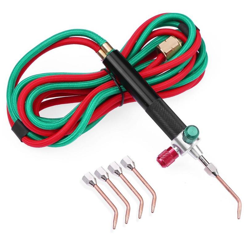 Mini Gas Fackel Schweißen Löten Gun Sauerstoff Acetylen Gun für Metall Edelstahl Schweißen Löten Tool Kit