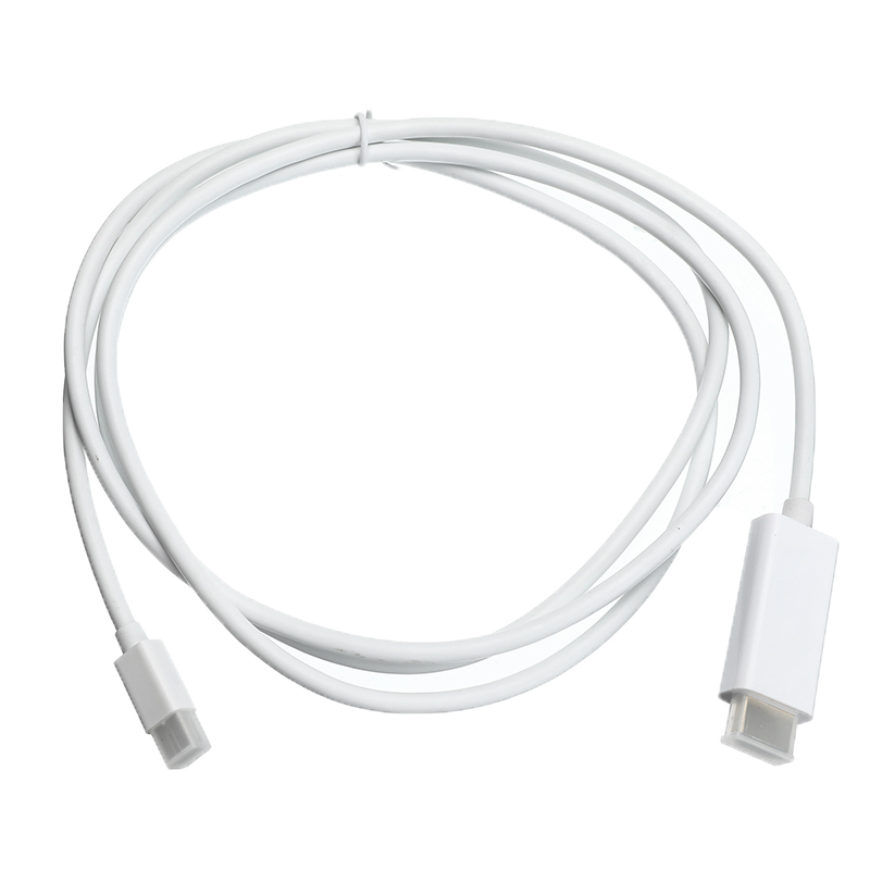 6FT Thunderbolt Mini DisplayPort Display Port DP To HDMI Adapter Cable For Apple Mac Macbook 1.8m
