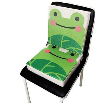 Baby Chiar Cushion Portable Dismountable Adjustable Cute Animal Print Flax Children Soft Dining Chair Heightening Cushion Pad
